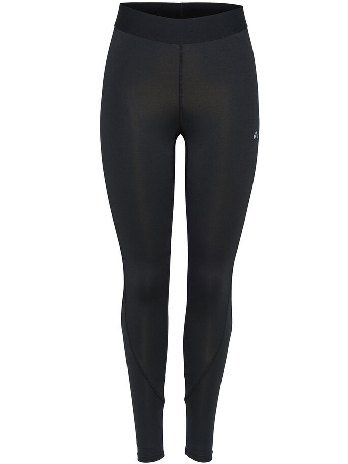 SOLID TRAINING TIGHTS, Black, large
