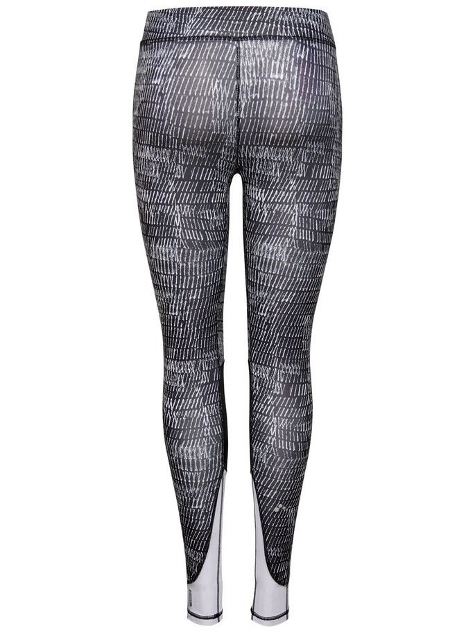 PRINTED TRAINING TIGHTS, White, large