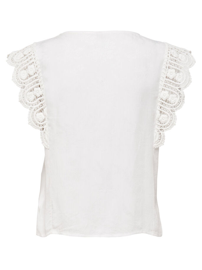 DENTELLE TOP SANS MANCHES, Cloud Dancer, large