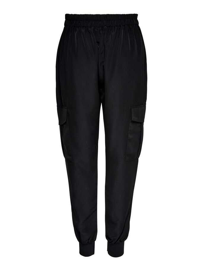 TRACK TROUSERS, Black, large