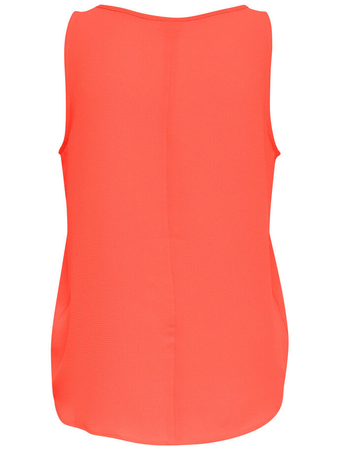 UNICOLOR TOP SIN MANGAS, Fiery Coral, large