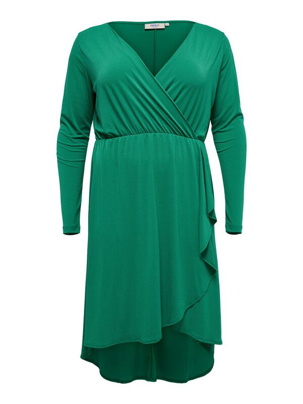 ONLY - only curvy wrap long sleeved dress  - 1