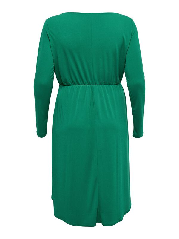 ONLY - only curvy wrap long sleeved dress  - 2