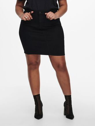 CURVY REGULAR FITTED DENIM SKIRT