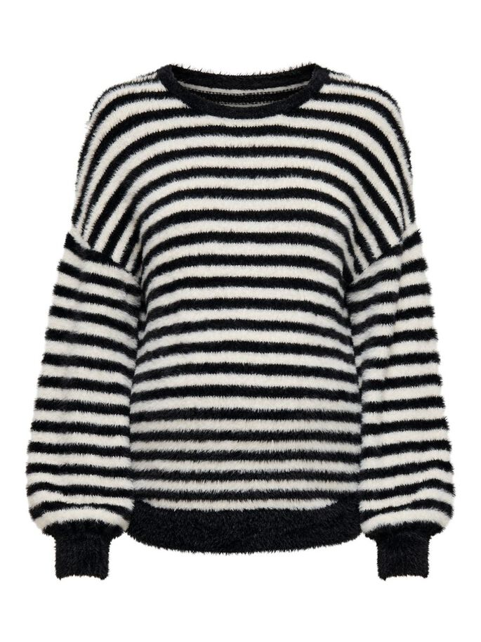 MAMA LONG SLEEVED KNITTED PULLOVER, Black, large