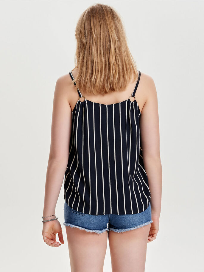 DE CORTE HOLGADO TOP SIN MANGAS, Dark Navy, large