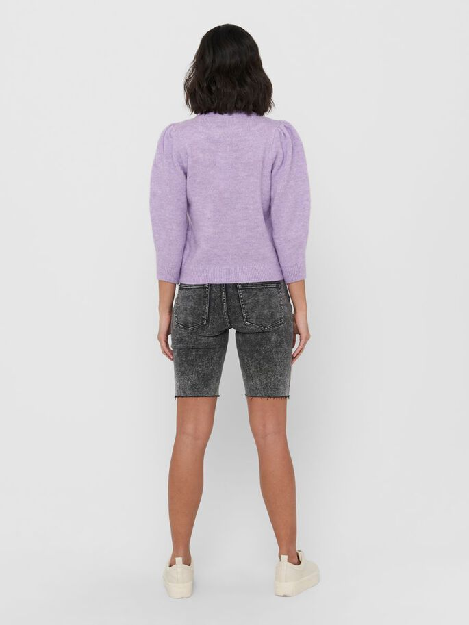 DETAILED KNITTED PULLOVER, Orchid Petal, large