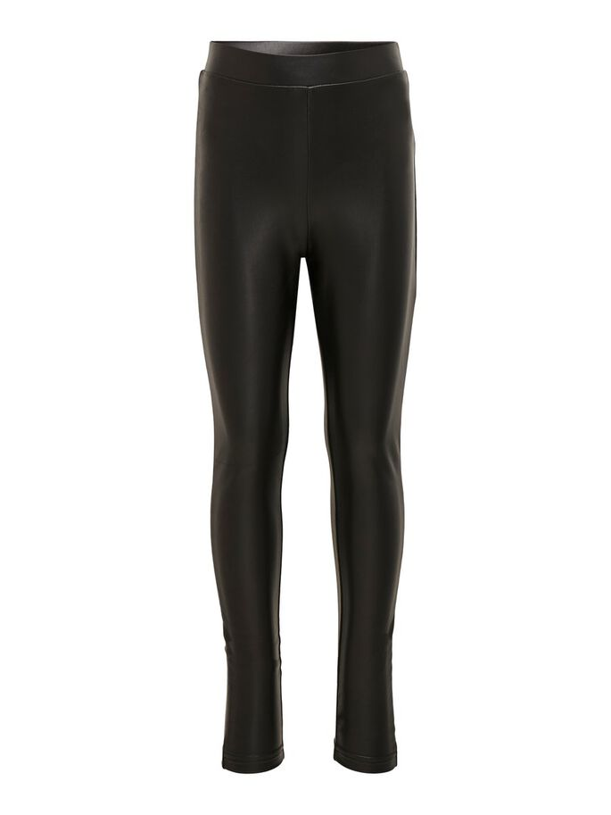 COATED LEGGINGS, Black, large