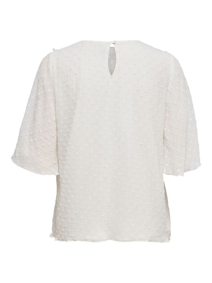 LOOSE FITTED TOP, White, large