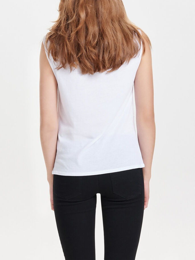 ESTAMPADO TOP SIN MANGAS, White, large