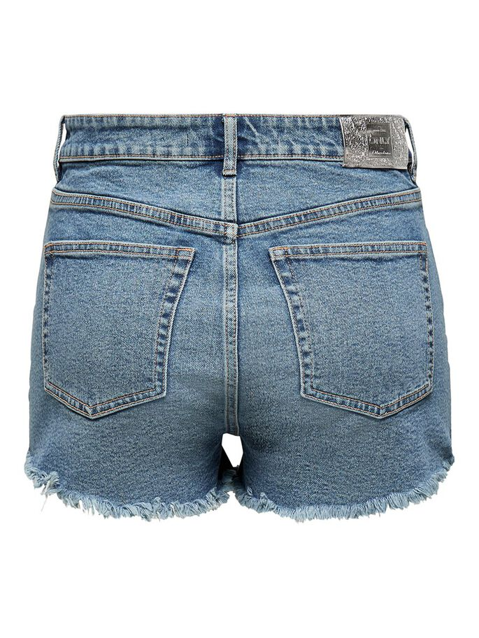 ONLPIRLO LIFE HW EDGE DENIM SHORTS, Medium Blue Denim, large