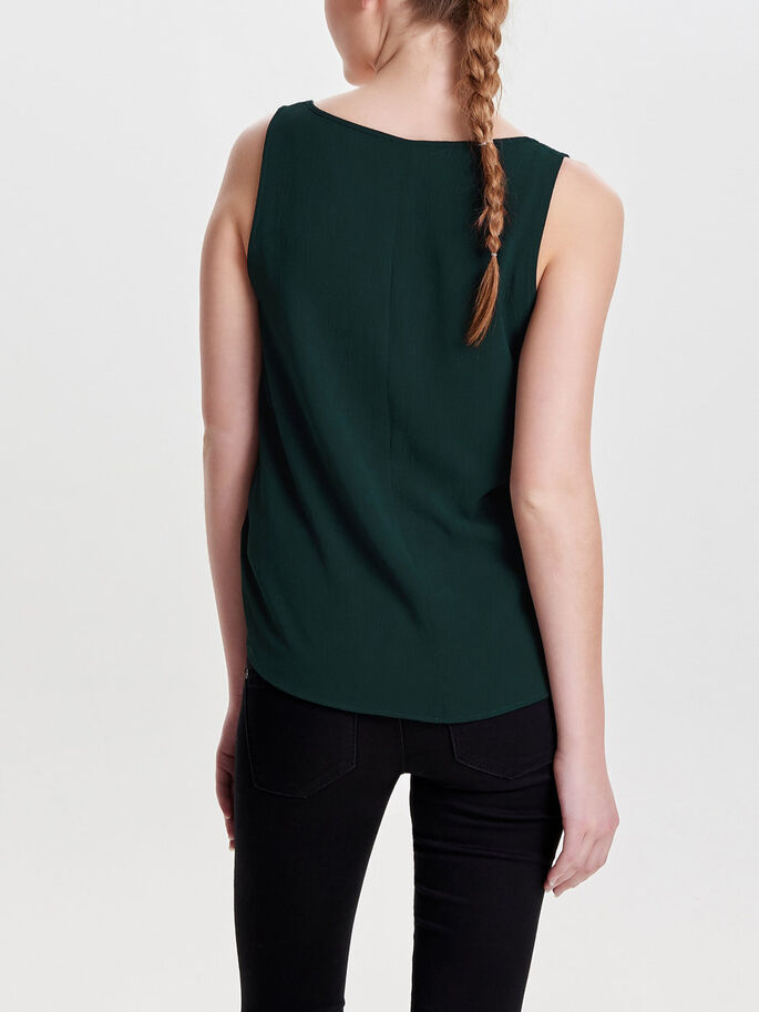 SOLID SLEEVELESS TOP, Scarab, large