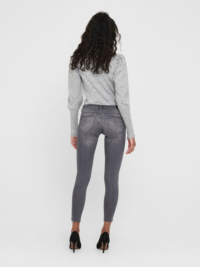 ONLCORAL LIFE SL ANKLE SKINNY FIT JEANS, Grey Denim, large