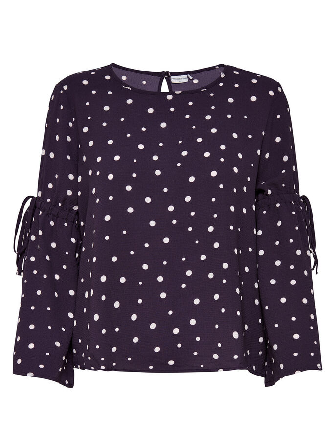 FLOWER LONG SLEEVED TOP, Nightshade, large