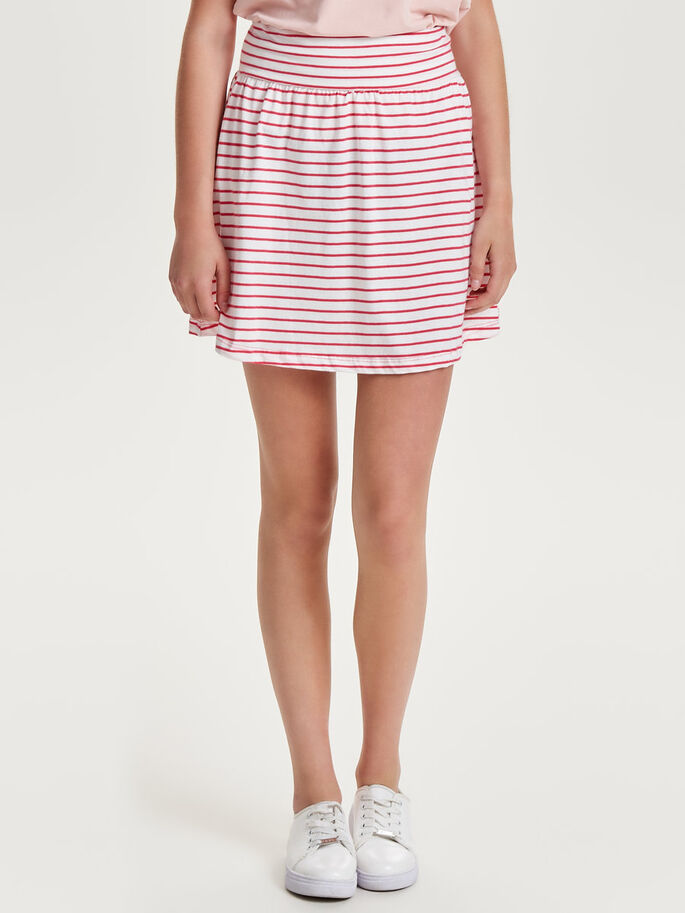 STRIPED SKIRT, True Red, large