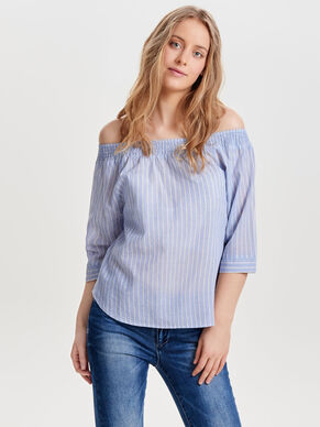 OFF SHOULDER TOPP MED 3/4-ÄRMAR