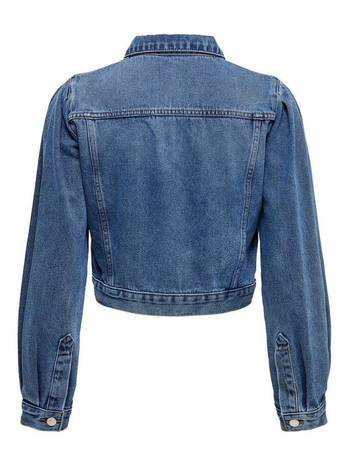 RACCOURCIE VESTE EN JEAN, Medium Blue Denim, large