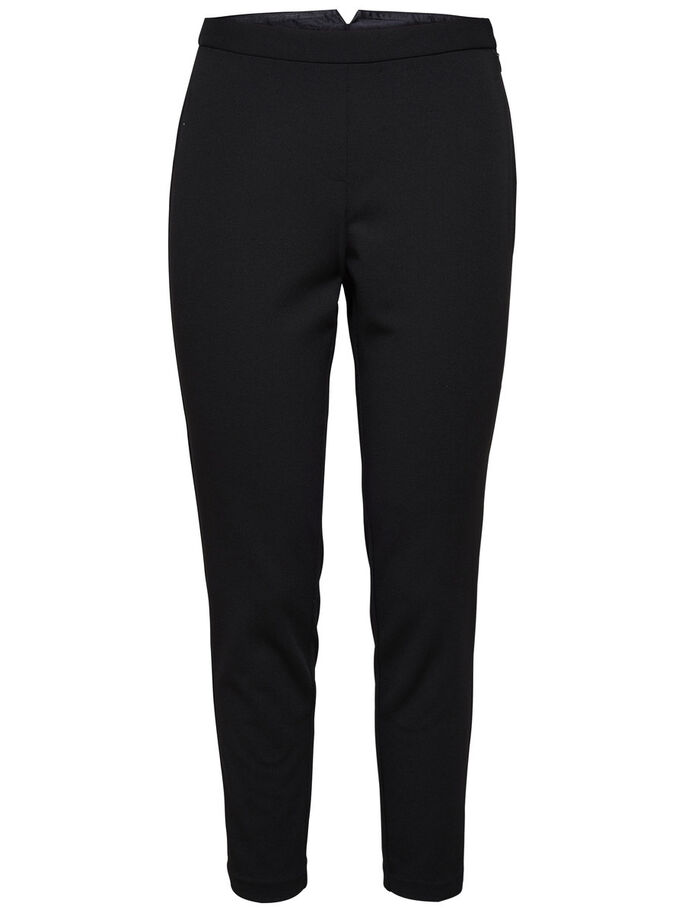 TOBILLEROS SLIM FIT PANTALONES, Black, large