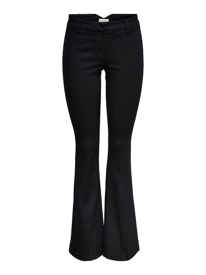 ONQNEWBLOOM HW FLARED JEANS, Black, large