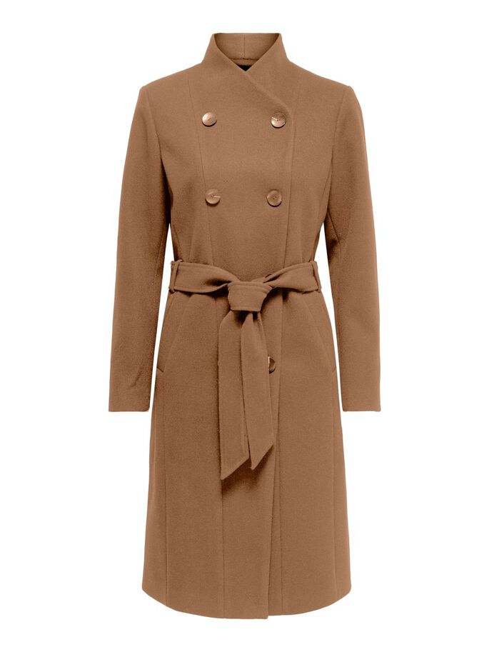 SOLID COLORED TRENCHCOAT, Toasted Coconut, large