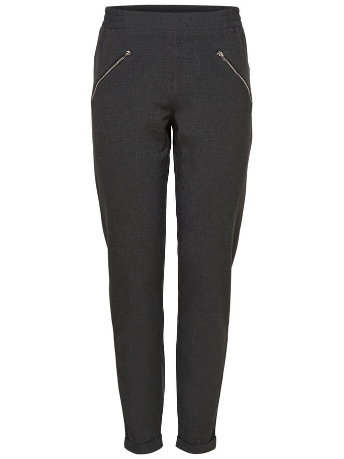 DETAILED TROUSERS, Dark Grey Melange, large