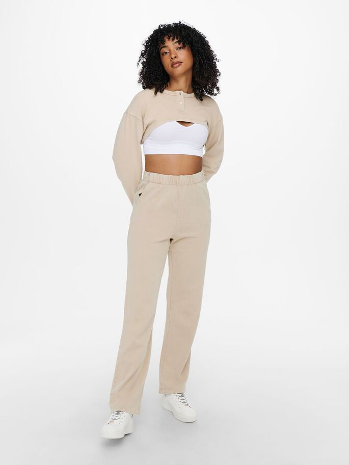 WIDE FITTED SWEATPANTS, Birch, large