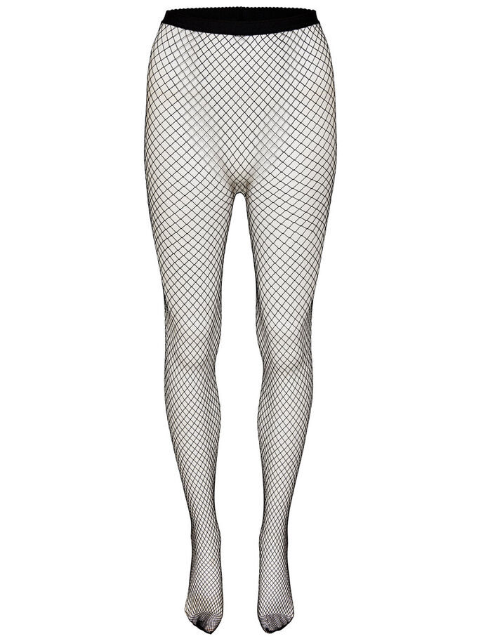 NET TIGHTS, Black, large