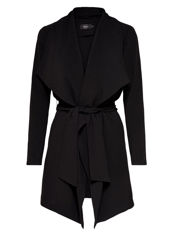 SEASONAL COAT, Black, large