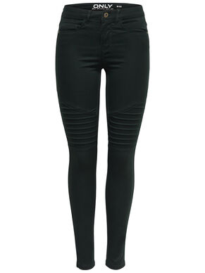 ROYAL REG BIKER SOLID SKINNY FIT JEANS