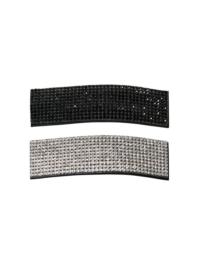 2-PACK STONE HAIR ACCESSORY, Black, large