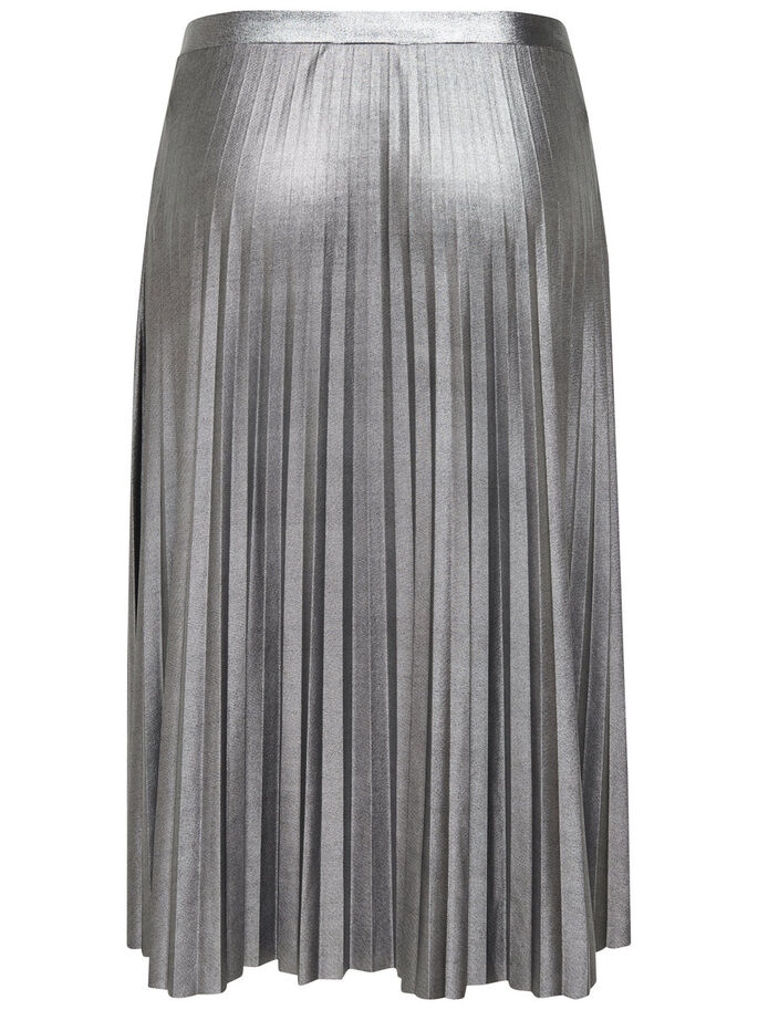 PLEATED SKIRT, Silver, large