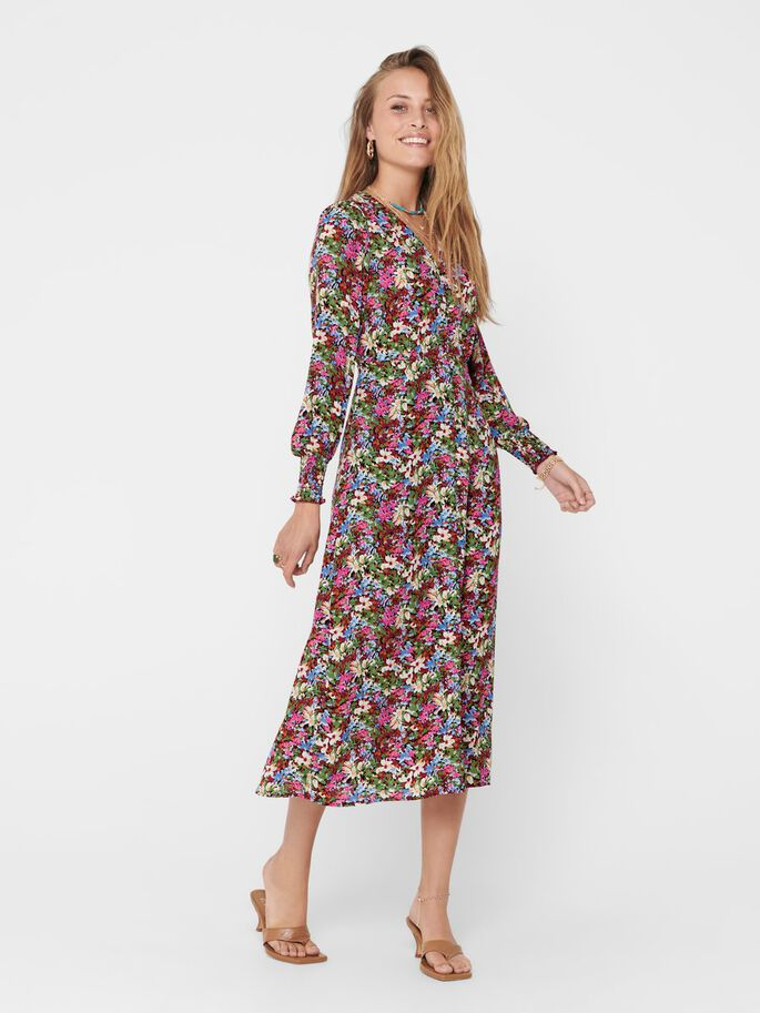 PRINTED DRESS, Merlot, large