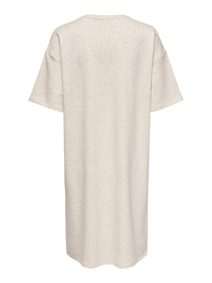 LOOSE FITTED DRESS, Oatmeal, large