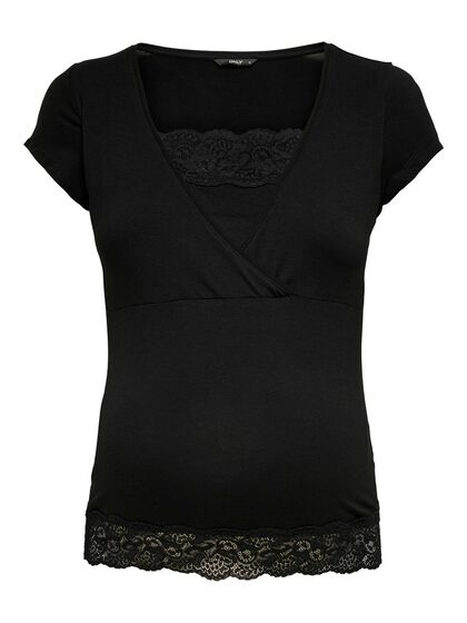 MAMA LACE DETAIL TOP