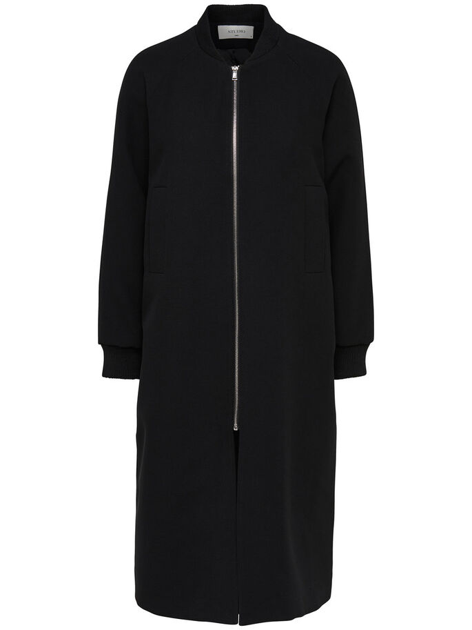 BOMBER COAT, Black, large