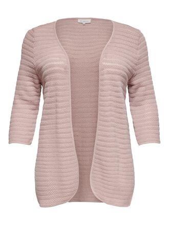 CURVY TEXTURE KNITTED CARDIGAN