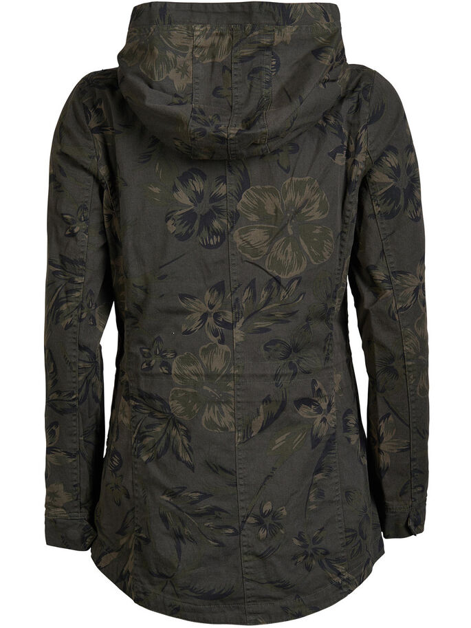 PRINTED CANVAS JACKET, Ivy Green, large
