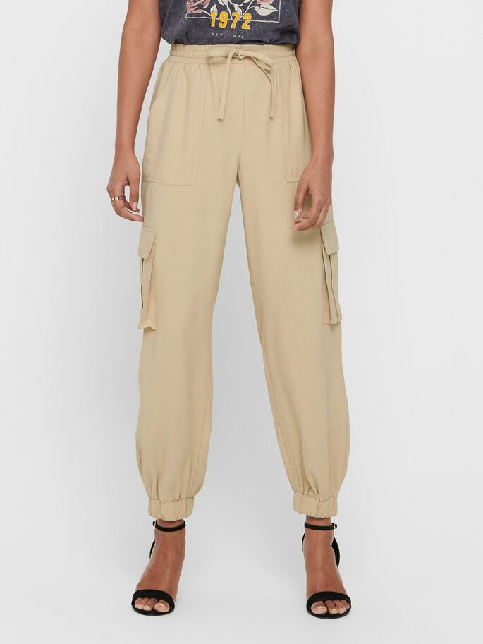 CARGO TROUSERS, Sand, large