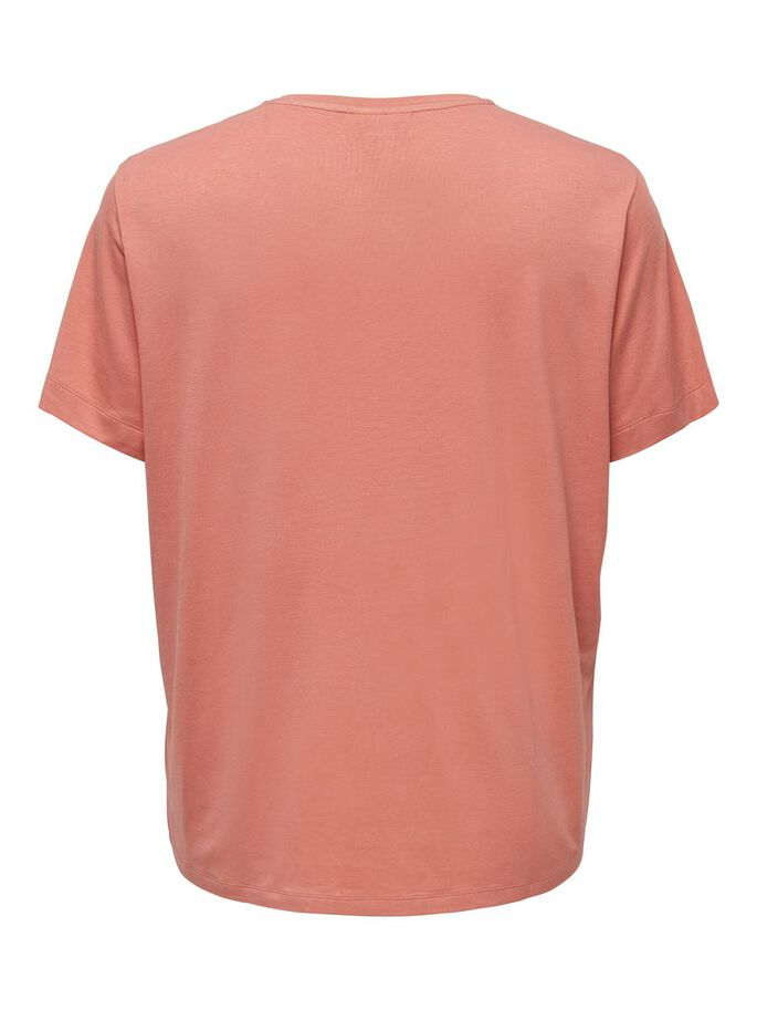 CURVY LOOSE FITTED T-SHIRT, Terra Cotta, large