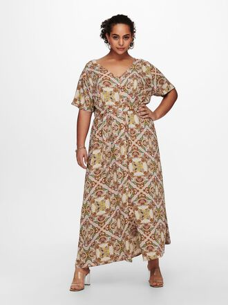 CURVY PRINTED MAXI DRESS