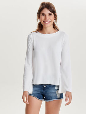 FLARE LONG SLEEVED TOP