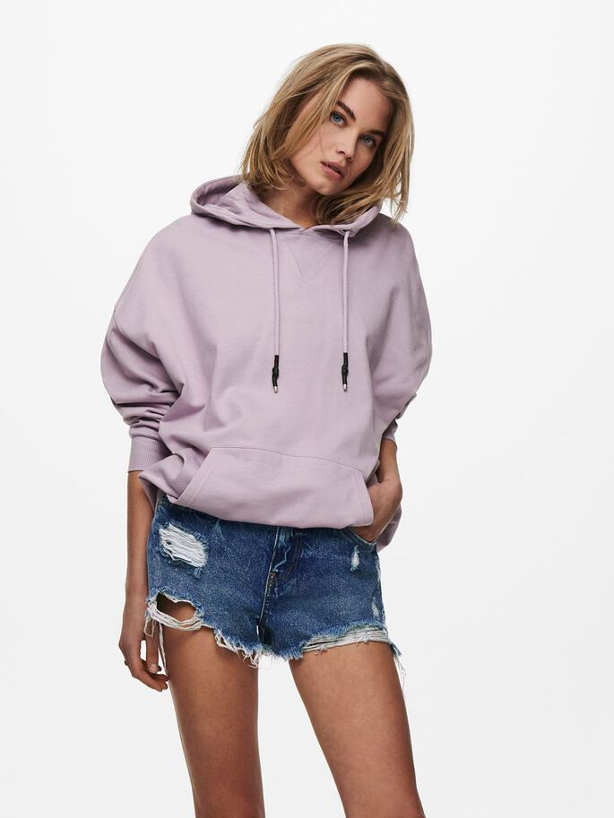 LOOSE FITTED SWEATSHIRT, Lavender Frost, large
