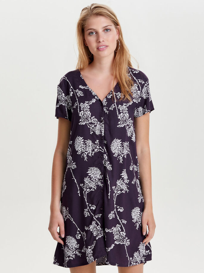 PRINTED SHORT SLEEVED DRESS, Nightshade, large