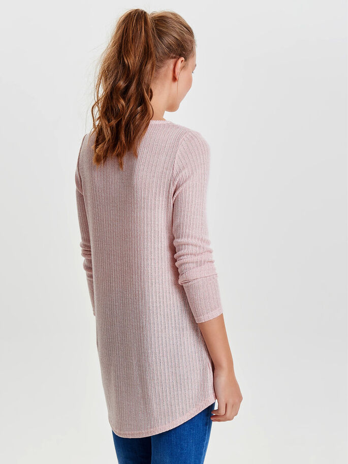 TWIST KNITTED PULLOVER, Rose Smoke, large