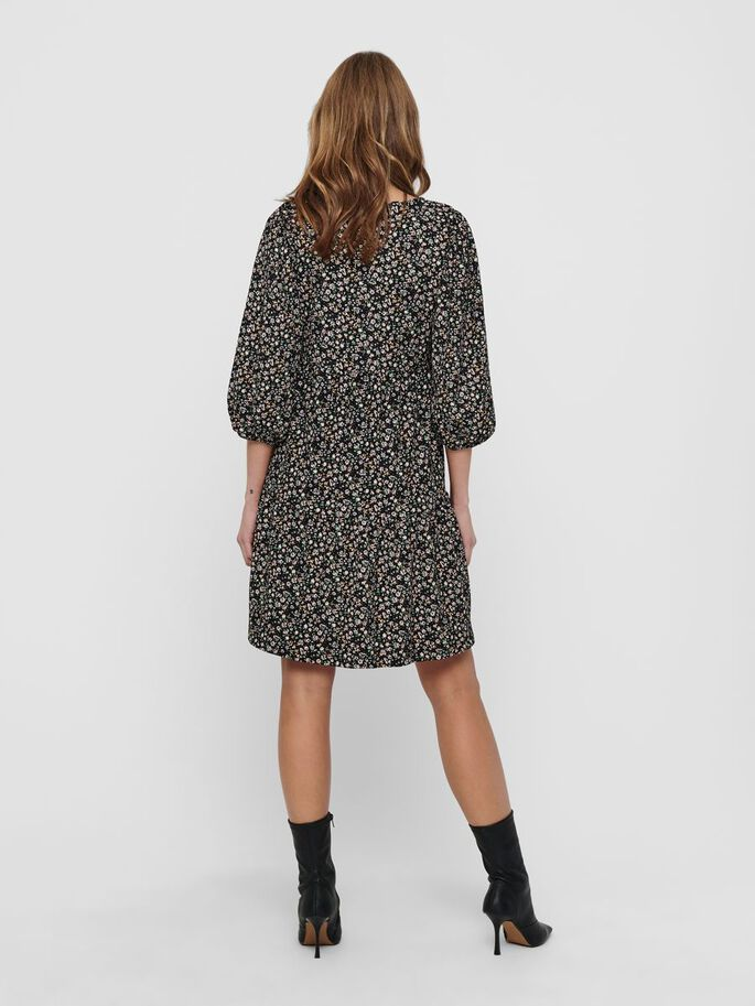 LOOSE FITTED DRESS, Black, large