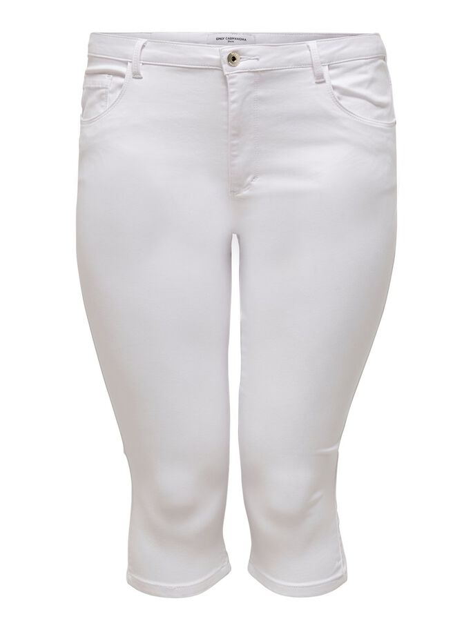 CURVY CARAUGUSTA LIFE HW SKINNY CAPRIS, White, large