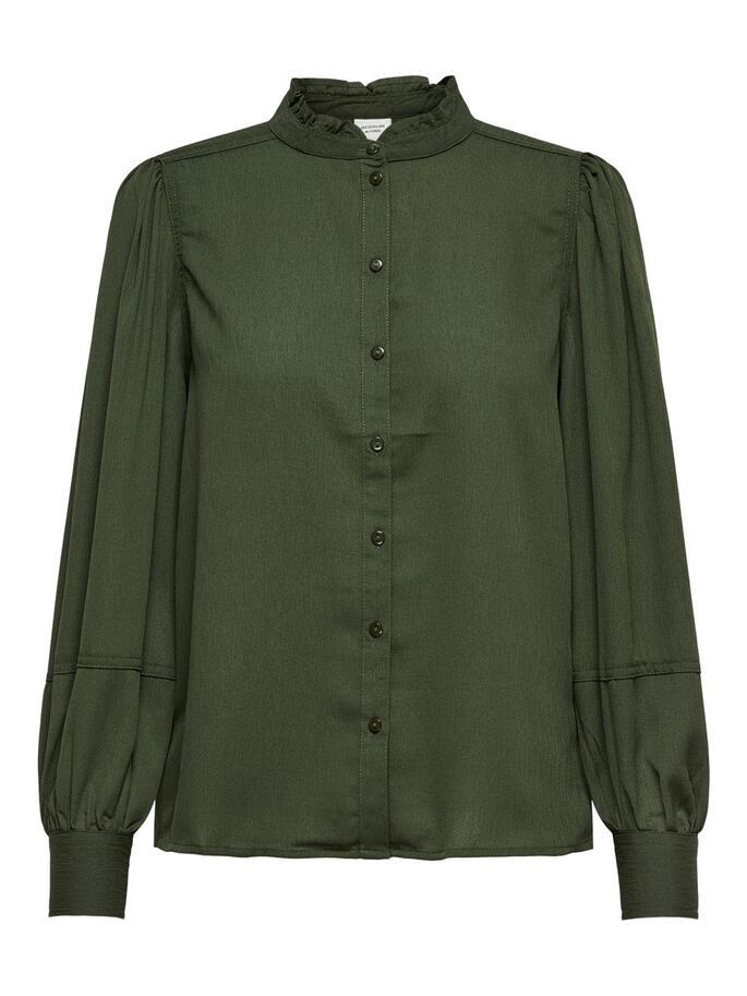 LOOSE FITTED SHIRT, Forest Night, large
