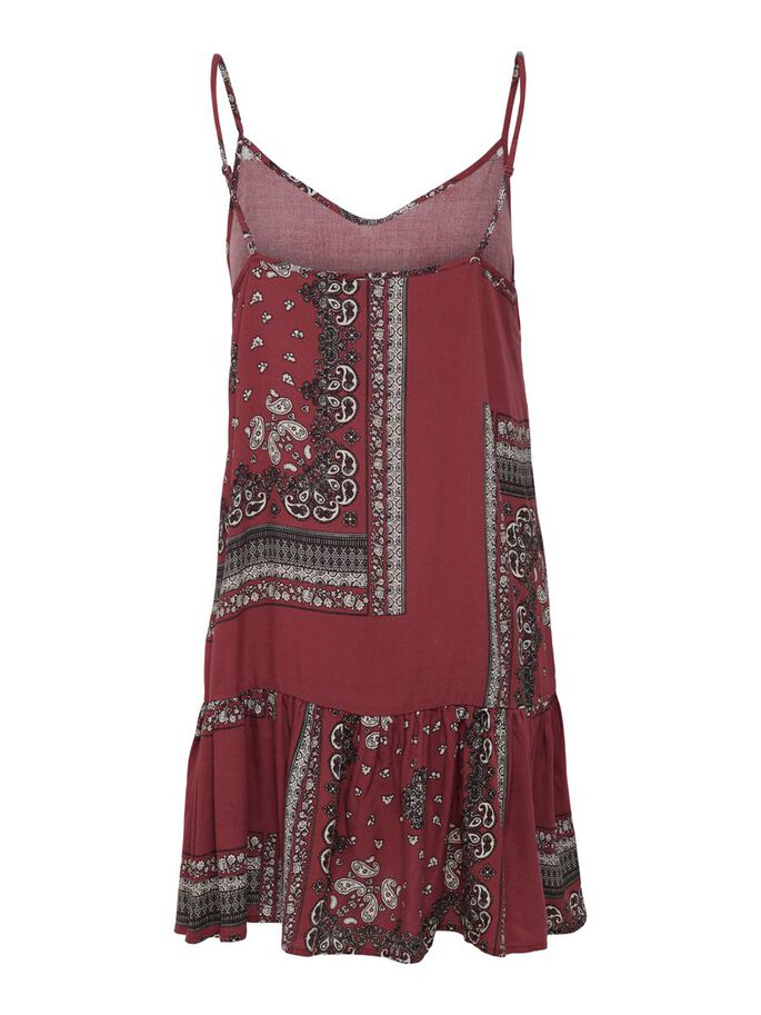 PRINTED DRESS, Apple Butter, large