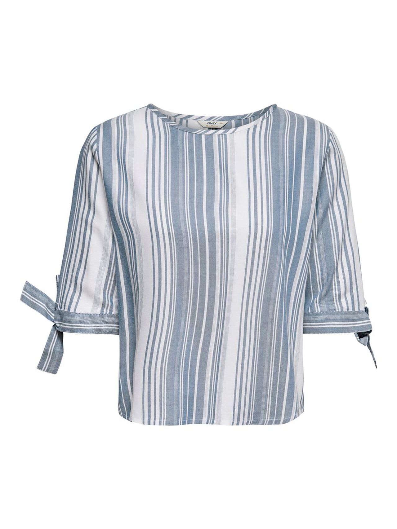 ONLY Striped Short Sleeved Top Damen White