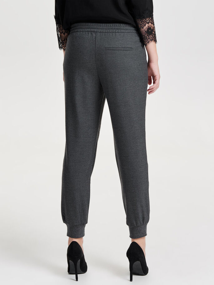 LOOSE TROUSERS, Grey Melange, large